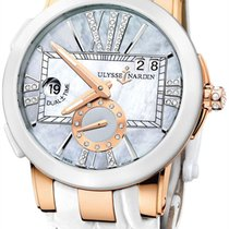 Ulysse Nardin 246-10/392 Executive Dual Time in Rose Gold with...