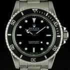 Rolex S/S O/P Black Dial Non-Date Submariner Gents 5513