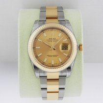 Rolex DATEJUST 36mm Steel & 18K Yellow Gold Champagne Dial...