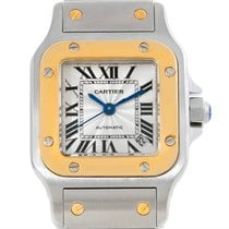 Cartier Santos Small Steel 18k Yellow Gold Watch W20057c4