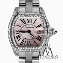 Cartier Roadster Small, Pink Dial - Stainless Steel On...