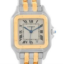 Cartier Panthere Large Steel 18k Yellow Gold 2 Row Watch W25028b8