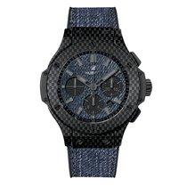 Hublot Big Bang 44mm Jeans Carbon Mens Watch Ref 301.QX.2740.N...