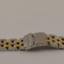 Breitling Pilotband 15mm Stahl/gold Pilot Bracelet Lady J 770d