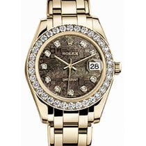 Rolex Pearlmaster 34 81298 Black Mother of Pearl Jubilee...