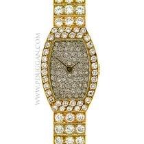 Van Cleef & Arpels 18k yellow gold ladies diamond wristwatch