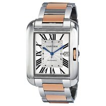 Cartier Tank Anglaise XL Automatic Silver Dial Mens Watch...