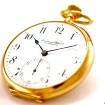 IWC Lepine Pocket Watch 18k Yellow Gold Bj-1915