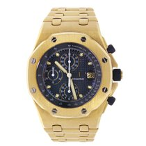Audemars Piguet AP Offshore 42mm Yellow Gold Watch Blue Navy Dial