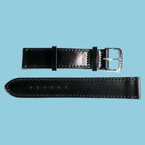 Nomos Shell Cordovan Lederband schwarz, Größe M, 19mm -NEU-