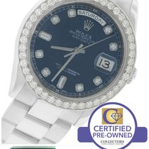 Rolex Day-Date President 36mm Blue Diamond Dial 118209 18K...