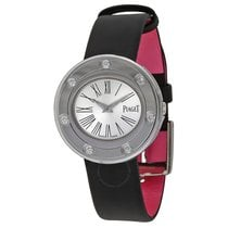 Piaget Possession Silver Dial Black Stain Ladies Watch