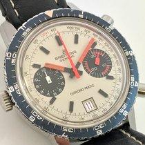 Breitling Chrono-Matic Vintage Buren 112 Silver dial never...