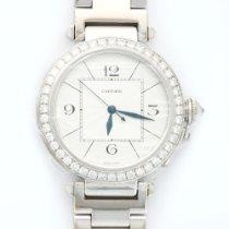 Cartier White Gold 42mm Pasha Diamond Watch Ref. WJ1202M9