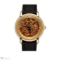 Parmigiani Fleurier Skeleton 18K Yellow Gold Leather Men`s Watch