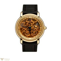 Parmigiani Fleurier Skeleton 18K Yellow Gold Leather Men`s Watch