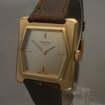 Longines vintage lady watch gold mechanical design seventies