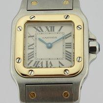 Cartier SANTOS QUARTZ STEEL AND 18K GOLD LADIES