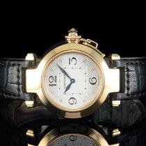 "Cartier ""PASHA"" mit DIAMANTZIFFERBLATT & KRONE..."