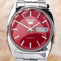 Seiko 5 Vintage Rare Stainless Steel Automatic Mens Japanese...