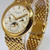 Patek Philippe Perpetual Calendar Bracelet Watch 18k Gold...