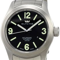 Glycine Incursore Automatic Stainless Steel Mens Swiss Watch...