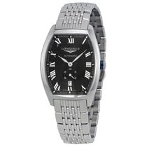 Longines Evidenza Automatic Black Dial Stainless Steel Mens...