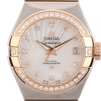 Omega Constellation Co-Axial Chronometer Stahl Roségold...