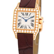 "Cartier Diamond ""Santos Demoiselle"" Strapwatch."