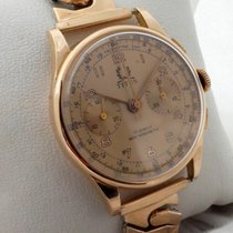 Titus vintage 18ct golden chrono , looking like new