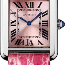 Cartier TANK SOLO WATCH  Small Size, Steel, Leather