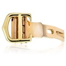Cartier New Style 18k Yellow Gold Fold Buckle For 16mm Leather...