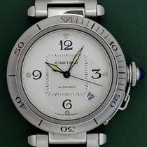 Cartier Pasha 38mm Automatic Date Stainless Steel Open Back