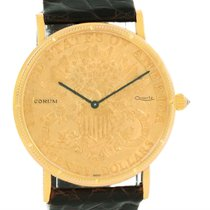 Corum 20 Dollars Double Eagle Yellow Gold Coin Black Strap Watch