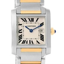Cartier Tank Francaise Midsize Steel 18k Gold Ladies Watch...