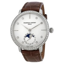 Frederique Constant Manufacture Slimline Moonphase Silver Dial...