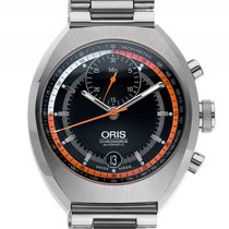 Oris Chronoris Stahl Automatik Chronograph Armband Stahl 40mm...