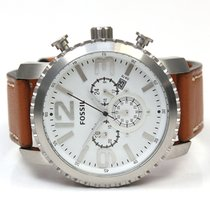 Fossil Herren Armbanduhr Stahl/Leder BQ1653
