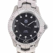 TAG Heuer Link Stainless Steel Black Diamond Dial Men's Quartz...