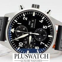 IWC Pilot Pilot's Chronograph Ac/Pelle Black Dial T