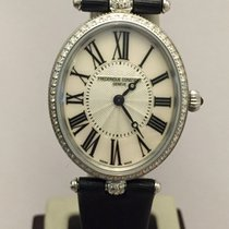 Frederique Constant Art Deco Oval Diamond ct.0.40 New Official...
