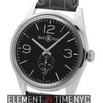 Bell & Ross Vintage BR Officer Black 41mm Stainless Steel...