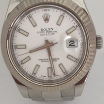 Rolex Datejust II 41mm Oyster Perpetual Stainless White-Gold...