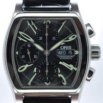 Oris Mans Automatic Wristwatch Chronograph Classic Tonneau