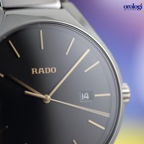 Rado Men's True 40mm Ceramic on Ceramic Black Face Gold...