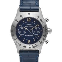 Panerai PAM 716 Mare Nostrum Acciaio Blue Arabic / Index...