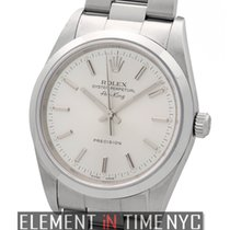 Rolex Air-King Precision Steel 34mm Silver Index Dial