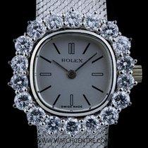 Rolex 18k W/G Silver Dial Diamond Set Vintage Cocktail 3576