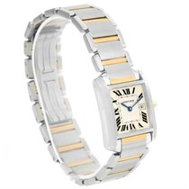 Cartier Tank Francaise Midsize Steel 18k Gold Quartz Watch...