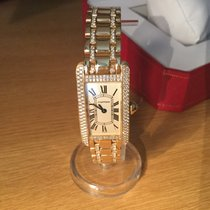 Cartier Tank Americane 2482 /18k with original set Diamonds